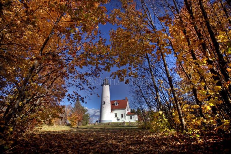 Faro Michigan norteño imágenes de archivo libres de regalías