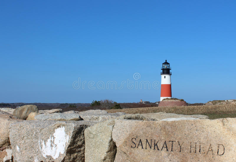 Faro Nantucket Massachusetts de la cabeza de Sankaty fotos de archivo libres de regalías