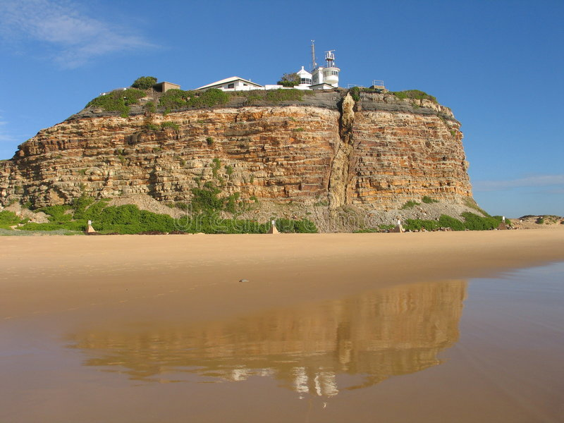 Faro a Newcastle fotografia stock libera da diritti
