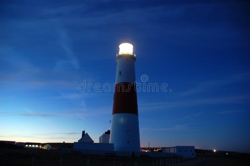 Faro Nightscene imagen de archivo