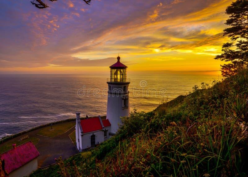 Faro Oregon immagini stock