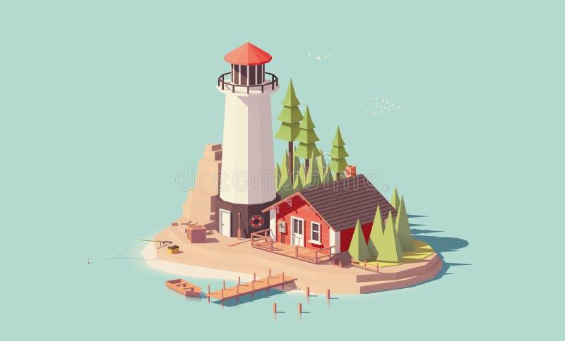 Faro polivinílico bajo del vector libre illustration