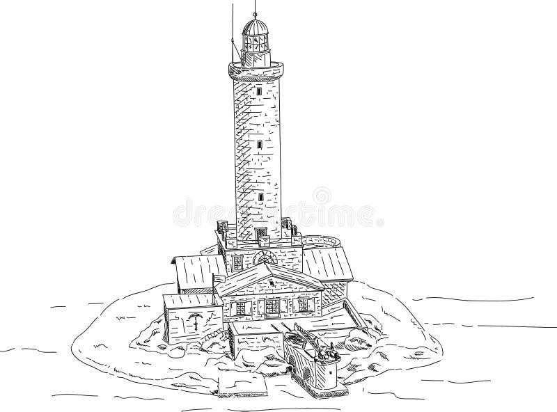 Faro Porer nel Croatia illustrazione di stock