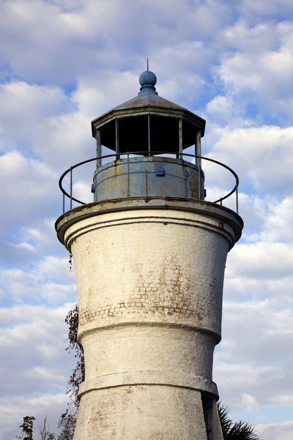 Faro portuario de Pontchartrain imagen de archivo libre de regalías