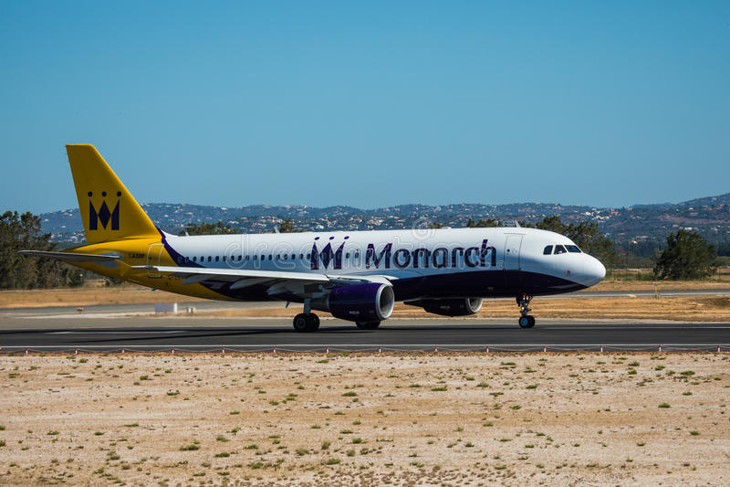 Download FARO, PORTUGAL - Juny 30, 2017: Monarch-Flugflugzeugabfahrt Von Internationalem Flughafen Faros Monarch Ist Eine Britische Flugli Redaktionelles Stockbild - Bild von flughafen, skyline: 96933624