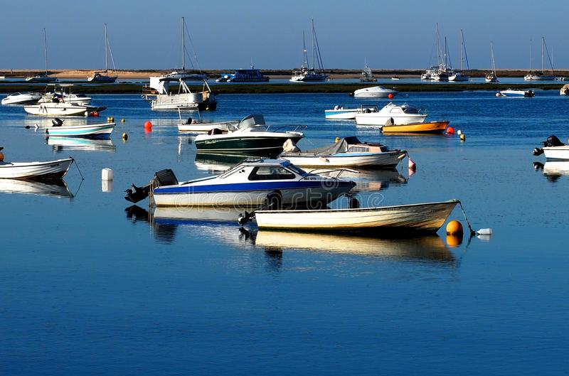 Faro Portugal Marina With Small Boats stockbild