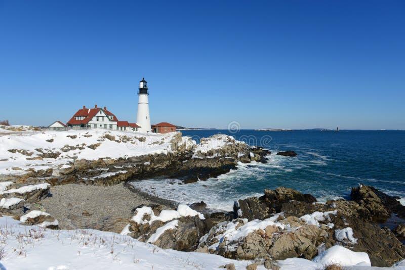 Faro principal de Portland, Maine fotos de archivo libres de regalías
