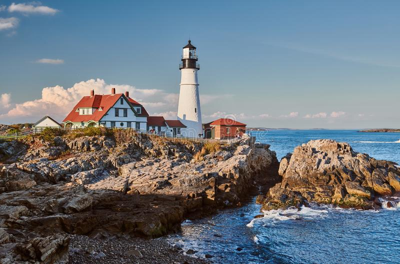 Faro principal de Portland, Maine, los E foto de archivo libre de regalías