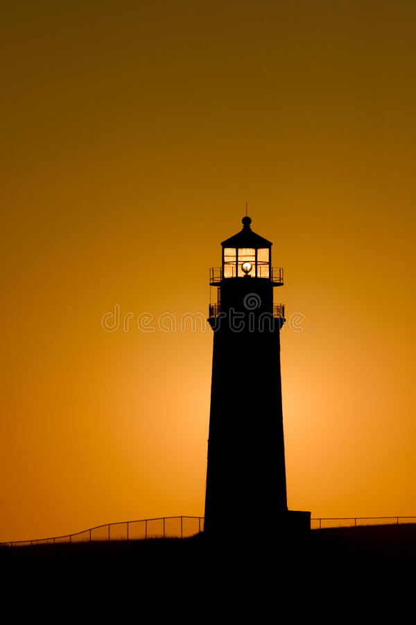 Faro principal de Sankaty en la salida del sol fotografía de archivo
