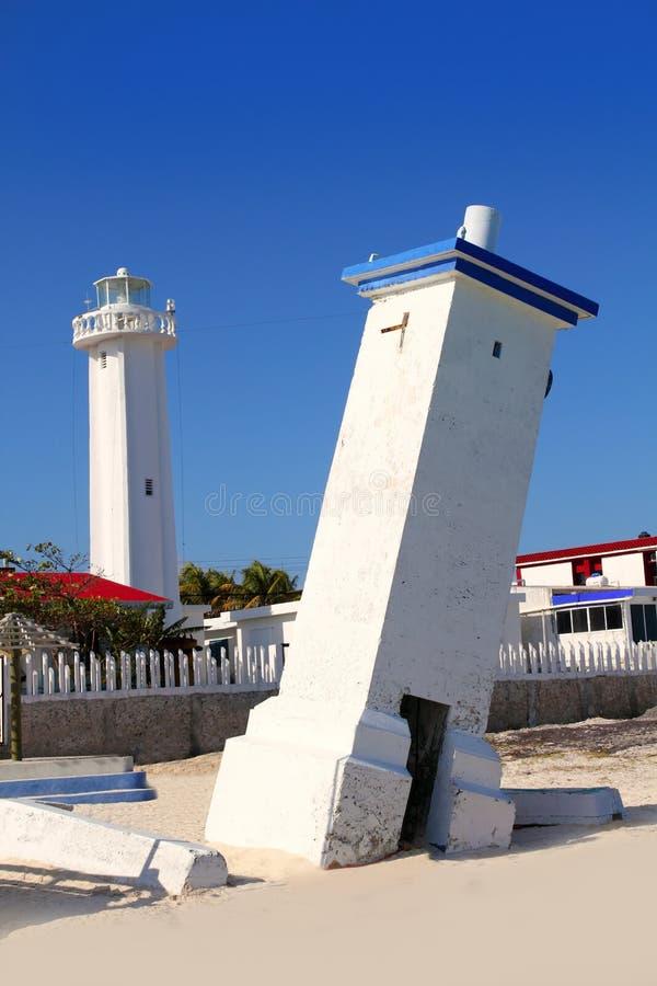 Faro Puerto Morelos Riviera maya México fotos de archivo libres de regalías