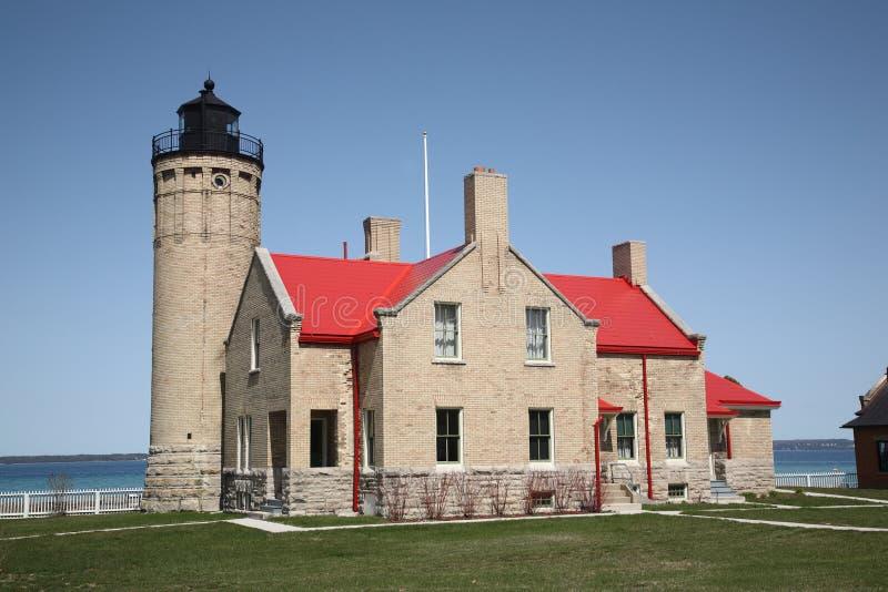 Faro - punto di Mackinac, Michigan fotografia stock libera da diritti