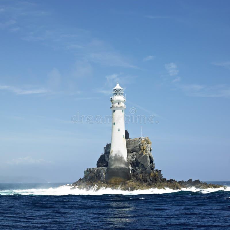Faro, roccia di Fastnet immagini stock