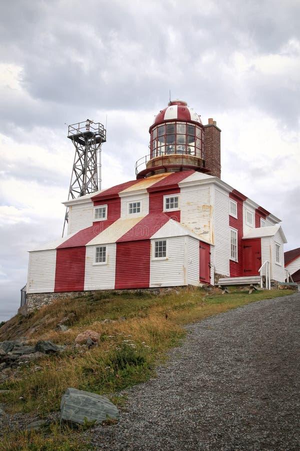 Faro rojo y blanco de Bonavista, Terranova fotos de archivo libres de regalías