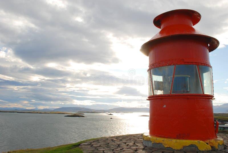 Faro scenico a Stykkisholmur in Islanda fotografia stock libera da diritti
