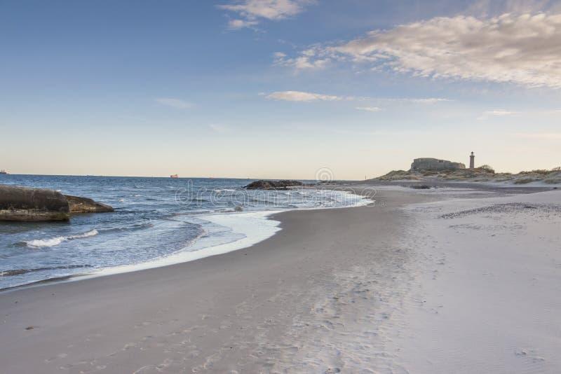 Faro in Skagen in Danimarca immagini stock libere da diritti