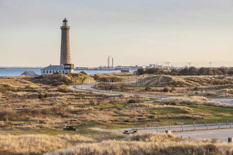 Faro in Skagen in Danimarca fotografie stock