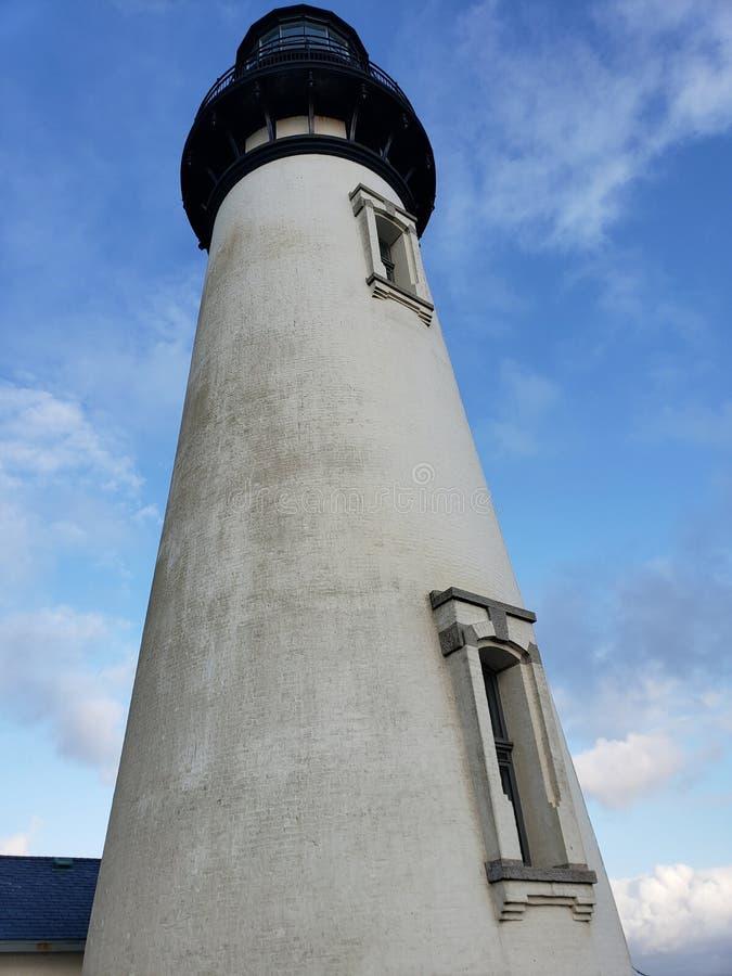 Faro storico della costa dell'Oregon immagine stock