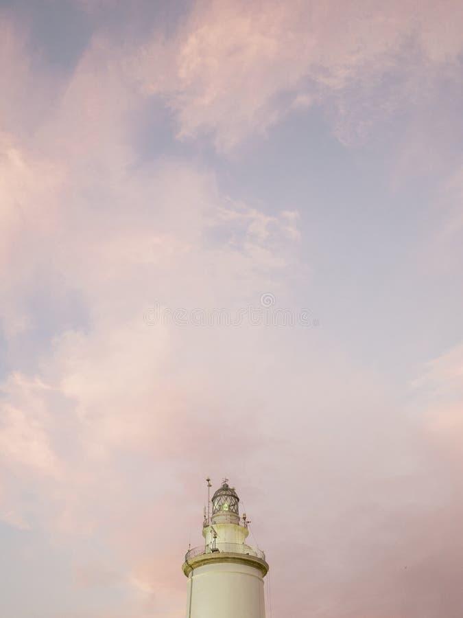 Faro storico di Farola Malaga della La fotografie stock