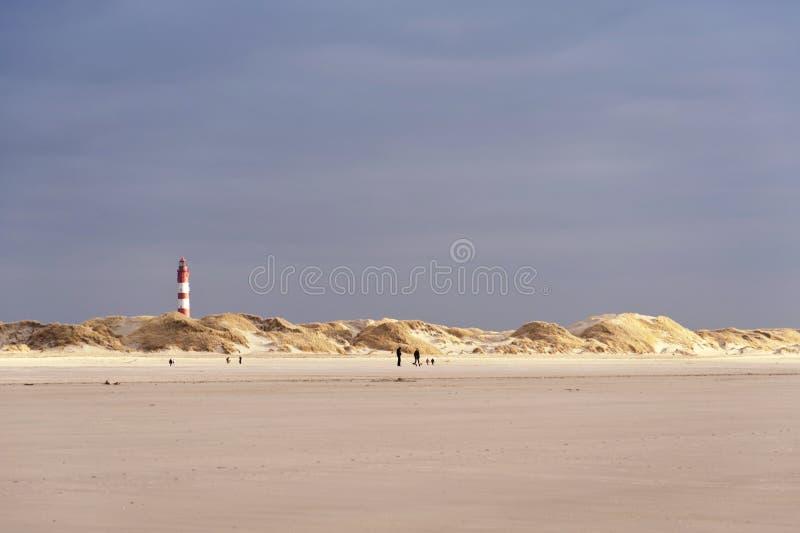 Faro su Amrum fotografia stock libera da diritti