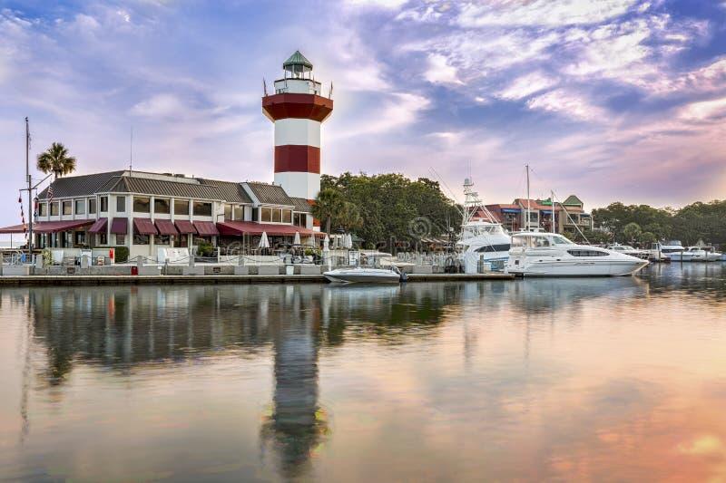 Faro su Hilton Head Island fotografia stock libera da diritti