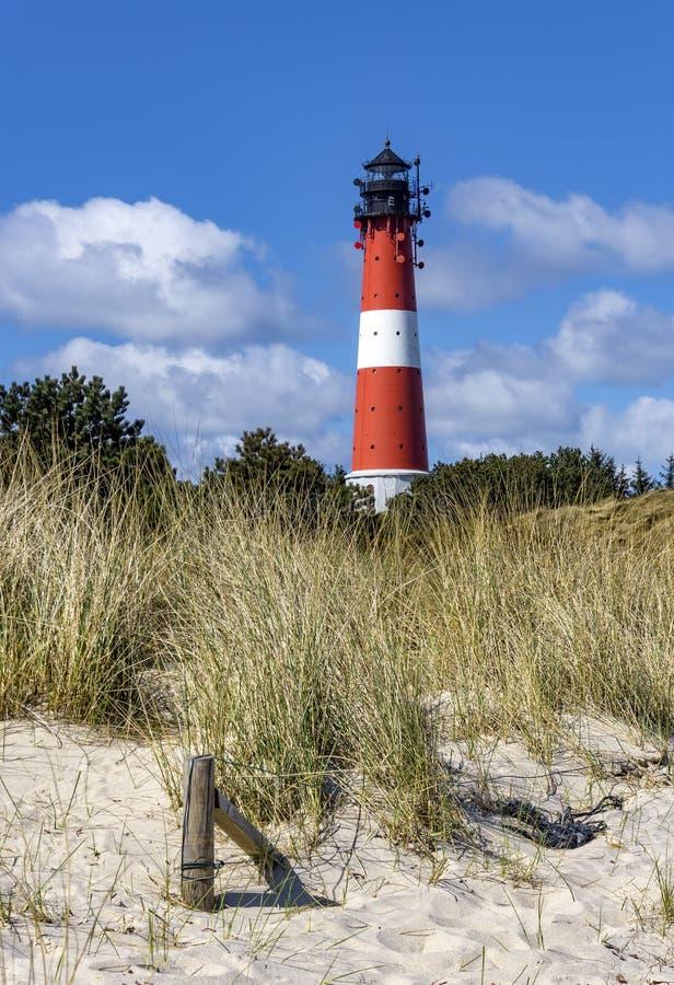 Faro sull'isola Sylt in Hoernum immagini stock