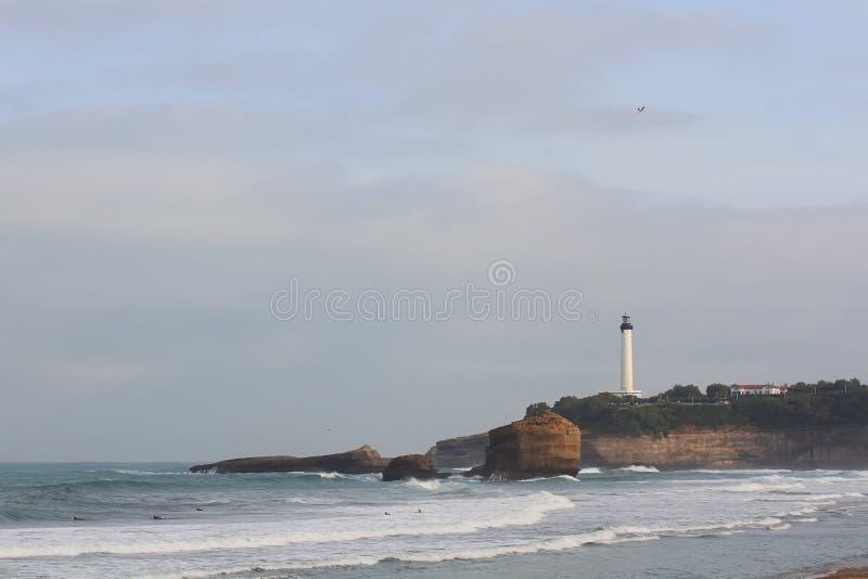Faro sull'oceano fotografia stock libera da diritti
