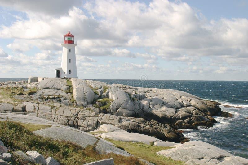 Faro sulle rocce fotografia stock libera da diritti