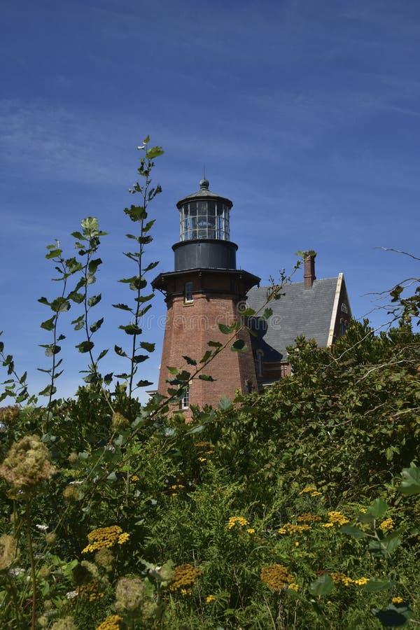 Faro suroriental del Block Island imagen de archivo