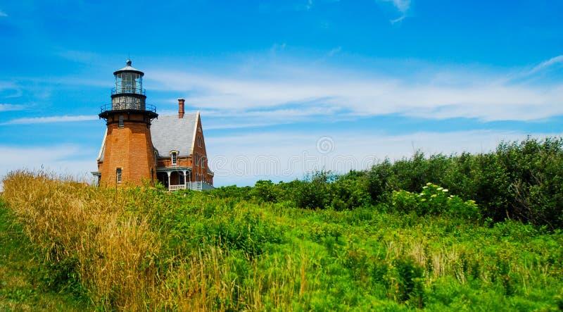 Faro suroriental histórico, Block Island, Rhode Island fotografía de archivo