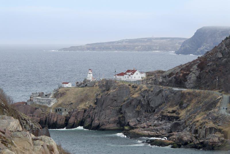 Faro - Terranova, Canadá imagen de archivo