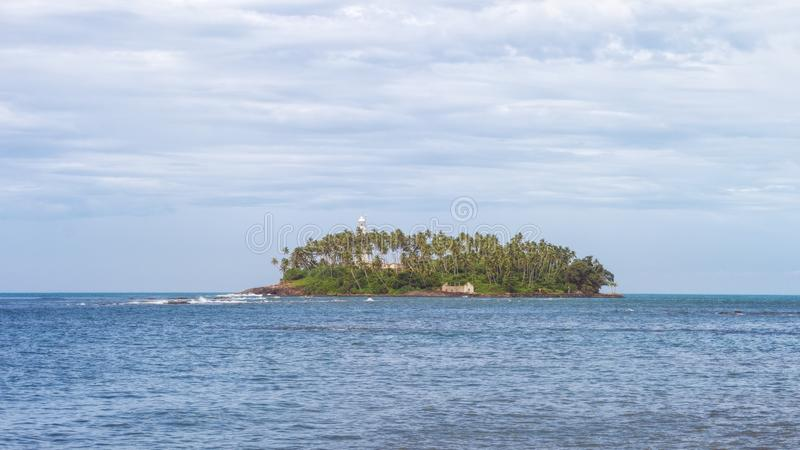 Faro vicino a Beruwala, Sri Lanka immagini stock libere da diritti