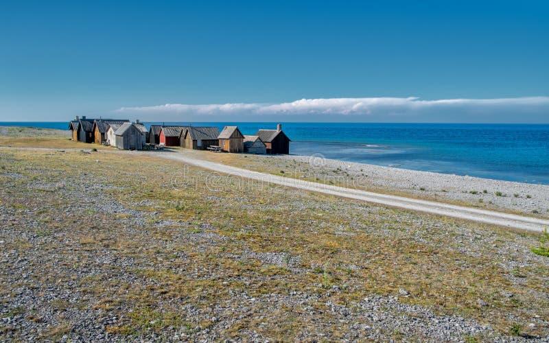 Faro wyspa w morzu bałtyckim obrazy stock