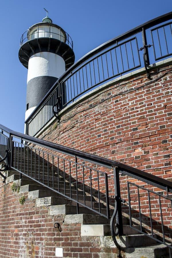 Faro y escalera de Southsea fotos de archivo