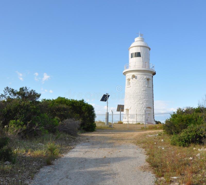 Faro y trayectoria del punto del leñador en Bush fotografía de archivo libre de regalías