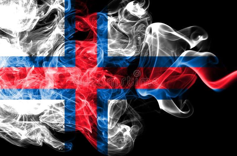 Faroe Island röker flaggan, Danmark beroende territoriumflagga royaltyfri illustrationer