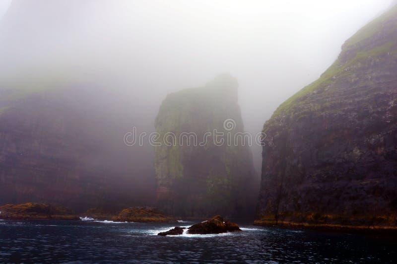 Faroe Islands boat trip, elephant rock, cliffs rocks, Denmark stock image