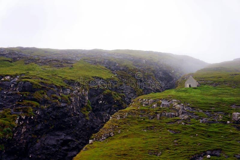 Faroe Islands boat trip, cliffs rocks, Denmark stock image