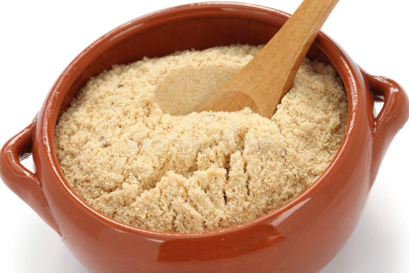 Farofa, brazilian food. Farofa, toasted cassava flour, brazilian food royalty free stock images