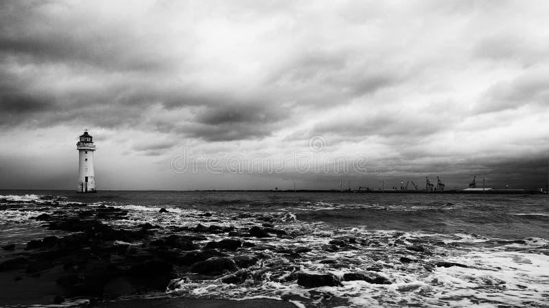 Farol Brighton Wirral England novo Reino Unido da rocha da vara imagem de stock