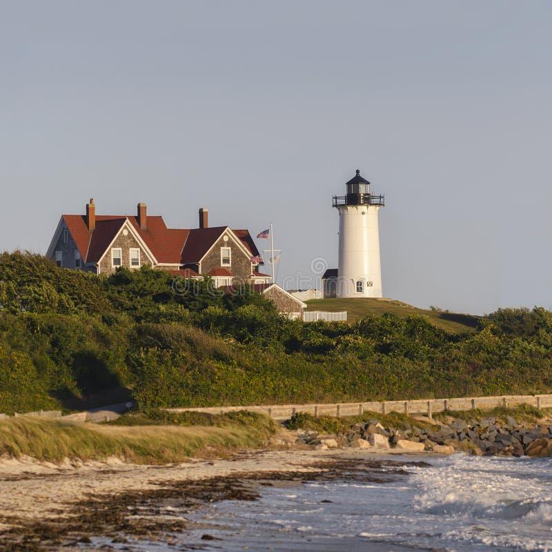 Farol Cape Cod Massachusetts de Nobska fotos de stock royalty free