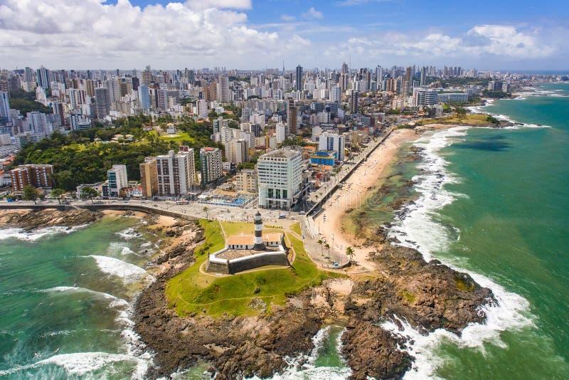"""Farol da巴拉岛-萨尔瓦多-巴伊亚†""""巴西 免版税库存图片"""