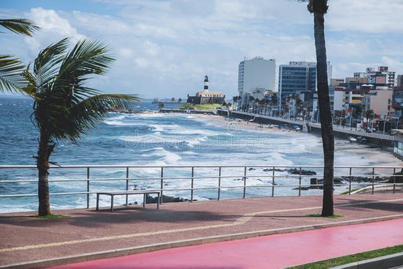 Farol DA Barra au Bahia, Salvador - Brésil photographie stock libre de droits
