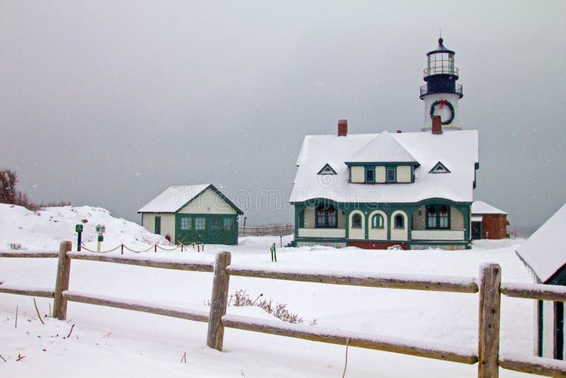 Farol da cabeça de Portland, cabo Elizabeth, Maine fotografia de stock royalty free