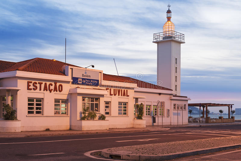 Farol da estação do rio de Belém foto de stock