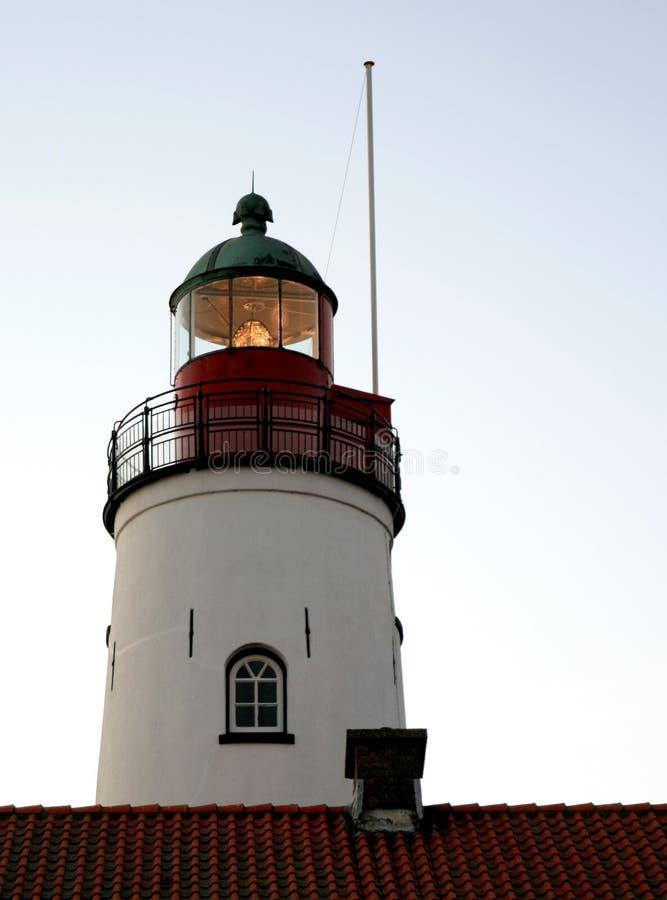 Farol da iluminação em Urk imagens de stock royalty free