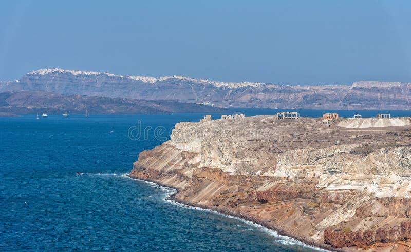 Farol de Akrotiri - ilha de Santorini Cyclades - Mar Egeu - G fotografia de stock royalty free