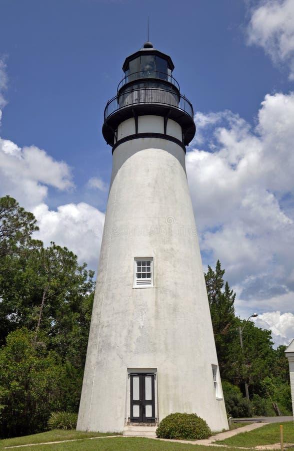 Farol de Amelia Island, praia de Fernandina, FL fotos de stock