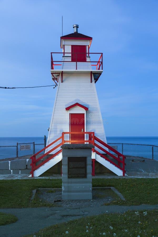 Farol de Amherst do forte no ` s de St John imagens de stock royalty free