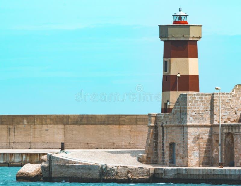 Farol de Ancent em Monopoli, Puglia - Itália fotografia de stock royalty free