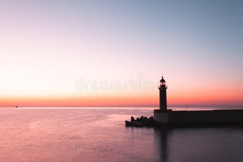 Farol de Bastia em Córsega, França fotos de stock